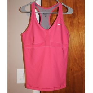 Womens Nike Athletic Pink Tank Top Large